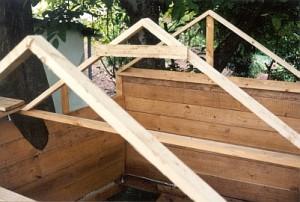 Dach des Baumhauses
