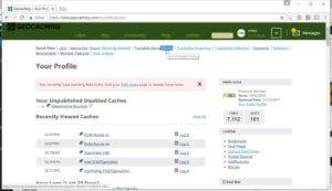 Profil eigene Travelbugs anzeigen lassen