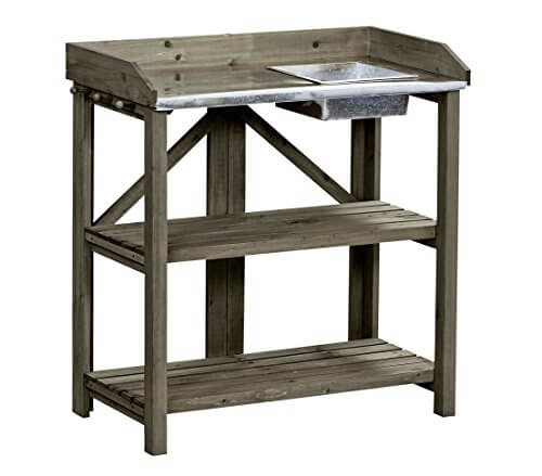 dehner holzpflanztisch klappbar ca 91 x 85 x 49 cm holz braun uwe pfaffmann. Black Bedroom Furniture Sets. Home Design Ideas