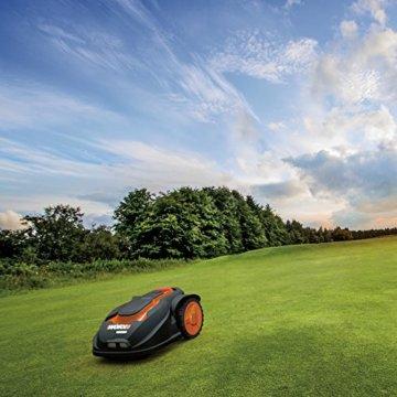 Worx Landroid M1000i Mähroboter – Automatischer Rasenmäher für bis zu 1000 qm mit WLAN-Verknüpfung (App-Steuerung) und verstellbarer Schnitthöhe – 55 x 38,5 x 26 cm (L x B x H) - 6