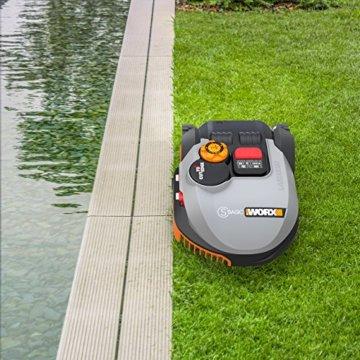 Worx Landroid S-Basic Mähroboter in Grau – Automatischer Rasenmäher für bis zu 300 qm mit AIA Technik für präzise Mäharbeit - 4