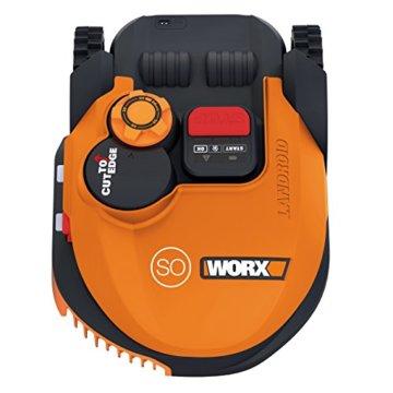 Worx Landroid SO500i Mähroboter – Automatischer Rasenmäher für bis zu 500 qm mit WLAN-Verknüpfung (App-Steuerung) und verstellbarer Schnitthöhe – 54,2 x 40,1 x 23,6 cm (L x B x H) - 2