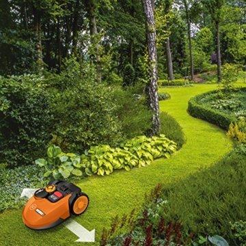 Worx Landroid SO500i Mähroboter – Automatischer Rasenmäher für bis zu 500 qm mit WLAN-Verknüpfung (App-Steuerung) und verstellbarer Schnitthöhe – 54,2 x 40,1 x 23,6 cm (L x B x H) - 4