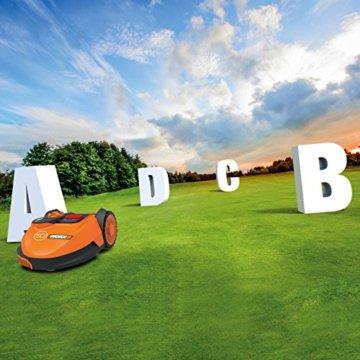 Worx Landroid SO500i Mähroboter – Automatischer Rasenmäher für bis zu 500 qm mit WLAN-Verknüpfung (App-Steuerung) und verstellbarer Schnitthöhe – 54,2 x 40,1 x 23,6 cm (L x B x H) - 6
