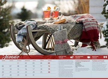Landliebe 2020, Wandkalender im Querformat (45x33 cm) - Gartenkalender / Landleben mit Tipps zu Garten, Küche und Dekoration mit Monatskalendarium - 2