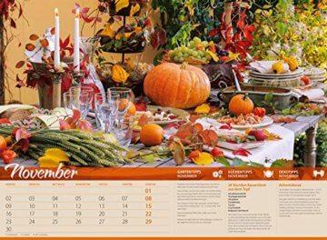 Landliebe 2020, Wandkalender im Querformat (45x33 cm) - Gartenkalender / Landleben mit Tipps zu Garten, Küche und Dekoration mit Monatskalendarium - 12