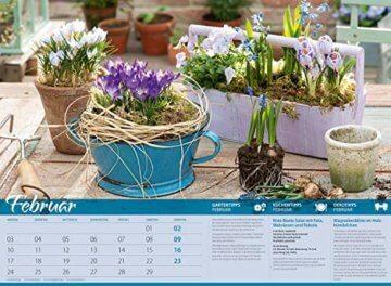 Landliebe 2020, Wandkalender im Querformat (45x33 cm) - Gartenkalender / Landleben mit Tipps zu Garten, Küche und Dekoration mit Monatskalendarium - 3