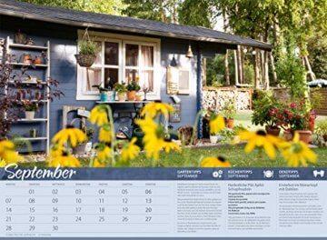 Landliebe 2020, Wandkalender im Querformat (45x33 cm) - Gartenkalender / Landleben mit Tipps zu Garten, Küche und Dekoration mit Monatskalendarium - 10
