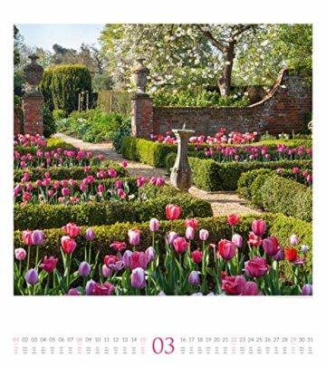 Paradiesische Gärten 2020, Wandkalender im Hochformat (48x54 cm) - Gartenkalender mit Monatskalendarium - 4