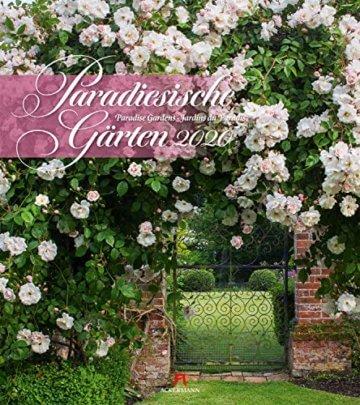 Paradiesische Gärten 2020, Wandkalender im Hochformat (48x54 cm) - Gartenkalender mit Monatskalendarium - 1