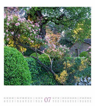 Paradiesische Gärten 2020, Wandkalender im Hochformat (48x54 cm) - Gartenkalender mit Monatskalendarium - 8