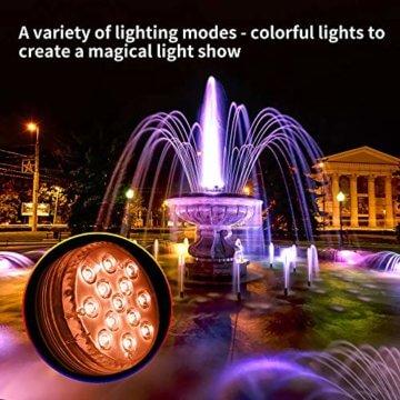 AODOOR Unterwasser Licht, RGB Multi Farbwechsel wasserdichte LED Leuchten für Vase Base Party,Weihnachten,Schwimmbad, Halloween, Weihnachten - 4 Stück - 3