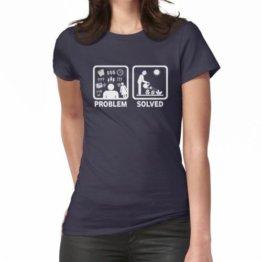 Gartenarbeit Lustiges Problem gelöst Stickman Shirt Frauen T-Shirt