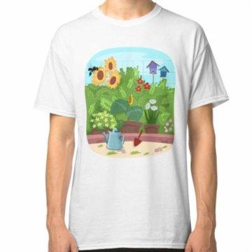 Gebürtige stachellose Biene fängt im Garten ein Classic T-Shirt
