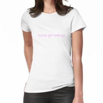 Pferd Mädchen Energie Frauen T-Shirt