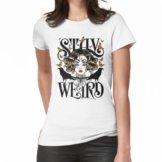 Rose und die Ravens {Bleib Weird} Color Version Frauen T-Shirt