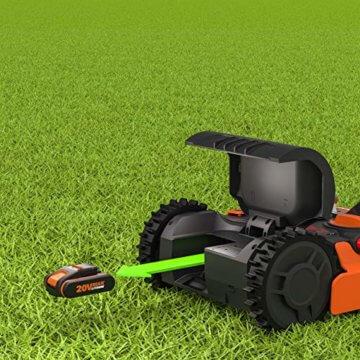 Worx Landroid S WR130E Mähroboter / Akkurasenmäher für kleine Gärten bis 300 qm / Selbstfahrender Rasenmäher für einen sauberen Rasenschnitt - 7