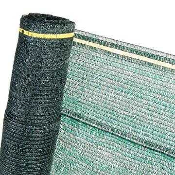 HaGa® Schattiernetz (Meterware)- Netz in 1m Breite mit 60% Schattierwirkung - Sonnenschutzgewebe Sichtschutz für Zaun - Abdunkelung für Gewächshaus und Gemüsegarten - 1